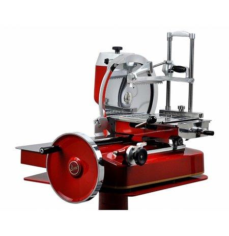 Nářezový stroj mechanický retro Flywheel 370/85 červený, pro krájení Prosciutto