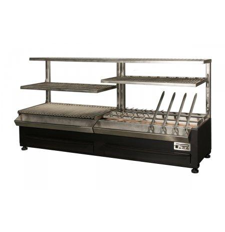 Gril stolní profi BBQ ROBATA SHASLIK ESP 160 Complet na dřevěné uhlí PIRA