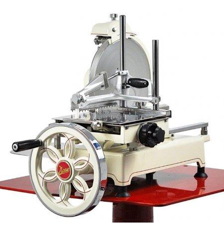 Nářezový stroj mechanický retro Flywheel CE 300/L krémový, pro krájení Prosciutto Crudo
