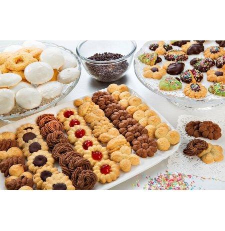 Lis na sušenky ruční Imperia Cookies, 18-ti dílná kovová sada