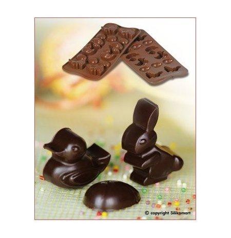 Forma na čokoládu silikonová EasyChoc 15x Velikonoce