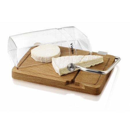 Kráječ sýrů strunový s dubovou deskou a krytem Petit Paris BOSKA