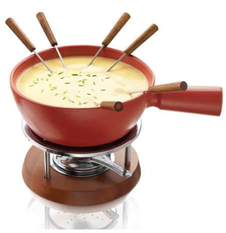Nádoba na sýrové fondue BOSKA 1,5l červená