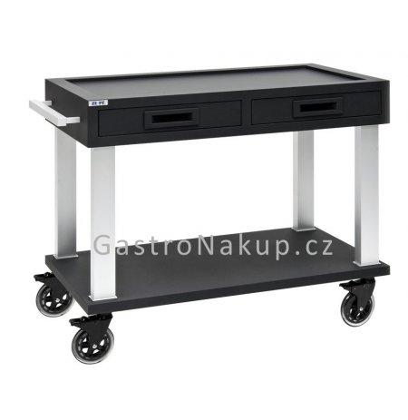 Servírovací vozík Tactus základní, černý