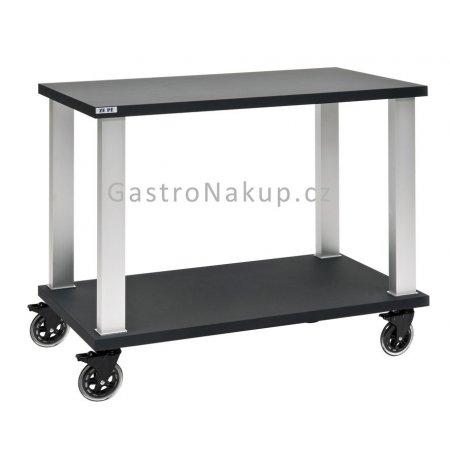 Servírovací vozík Gueridon Tactus dvoupatrový, černý