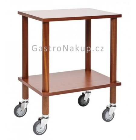 Servírovací vozík Gueridon základní, 60x40cm, mahagon