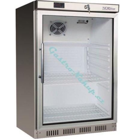 Skříň chladící NORDline UR200GS, prosklené dveře, nerezové opláštění
