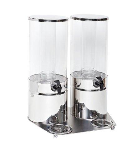 Zásobník chlazených nápojů ZePé nerez 2x 4 litry