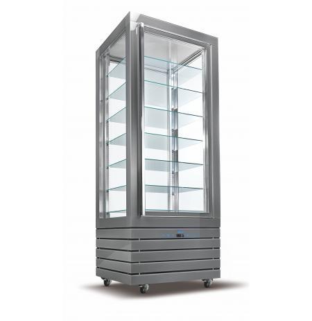 Vítrína chladící panoramatická VERA VPS500 ventilační, 7x pevná police