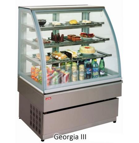 Vitrína chladící obslužná Georgia 3, nerezová, 60 cm, cukrářská