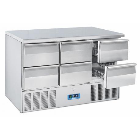Chladicí stůl saladeta Cool Head CRD 96A, 6x zásuvka