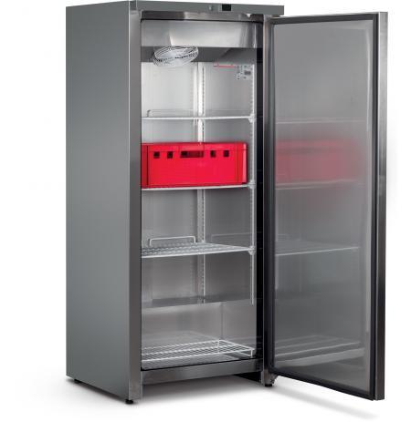 Skříň mrazící UF 600 FS, plné dveře, celonerezové provedení, objem 570 ltr., ventilační