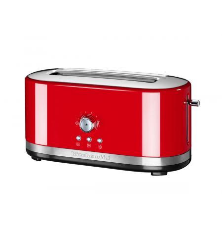 Kitchenaid Toustovač 5KMT4116 s manuálním ovládáním a dlouhými otvory - královská červená