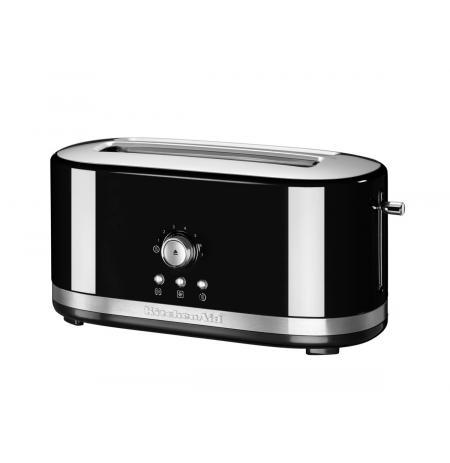 Toustovač 5KMT4116 KitchenAid s manuálním ovládáním a dlouhými otvory - černá
