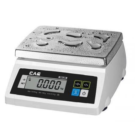 Váha stolní kuchyňská voděodolná CAS SW 1W digitální , 10 kg, ES ověření