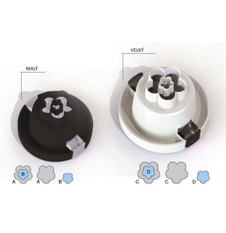 Vykrajovače 3D květiny pro dekoraci dortů, sada 2 ks