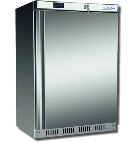 Skříň mrazící NordLine UF200S, plné dveře, nerezové opláštění