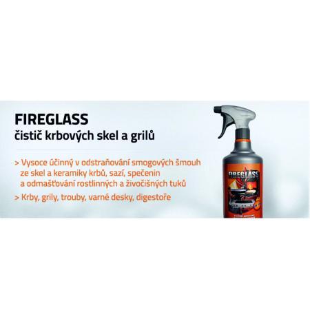 FIREGLASS čistící prostředek pro krbová skla, grily a keramiku topných těles 1litr