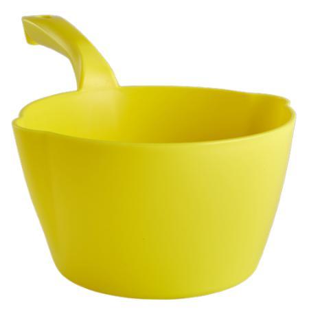 Naběračka Vikan 2 litry oblá s výlevkami žlutá
