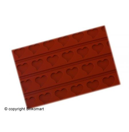 Forma silikonová 60x40cm Tapis Relief vzor SRDCE