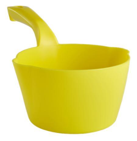 Naběračka Vikan 1 litr oblá s výlevkami žlutá