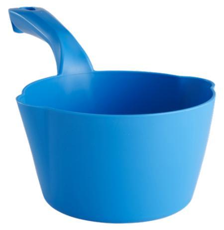 Naběračka Vikan 1 litr oblá s výlevkami modrá