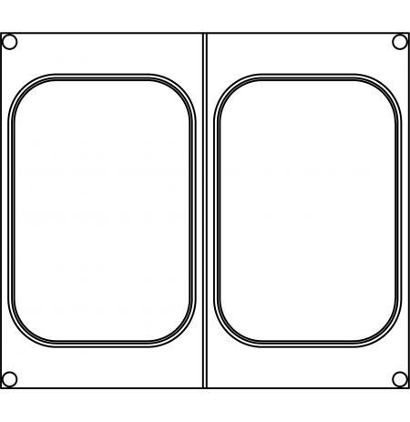 Matrice SP13 pro 2 jednodílné misky 160×110 mm na polévku