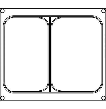 Matrice AG12 pro dvoudílné misky 227×178 mm