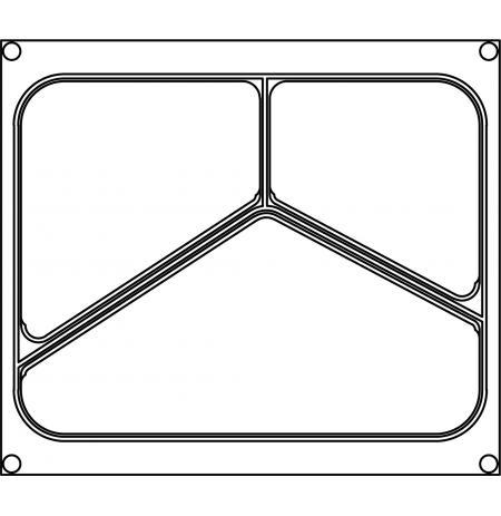 Matrice AG11 pro trojdílné misky ANIS 227×178 mm