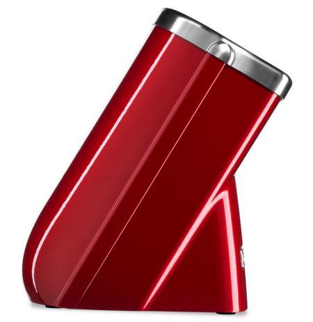 Blok na nože 10 slotů KitchenAid, červená metalíza