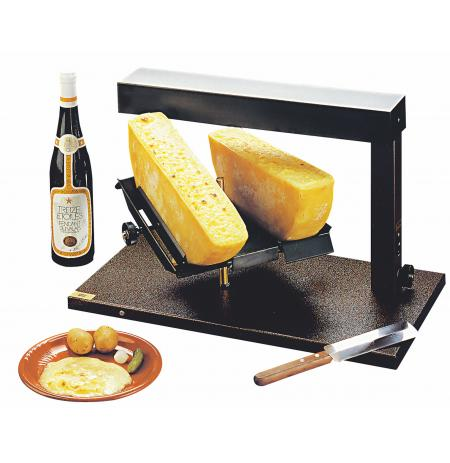 Raclette party gril Double na 2x 1/2 bochníku sýra