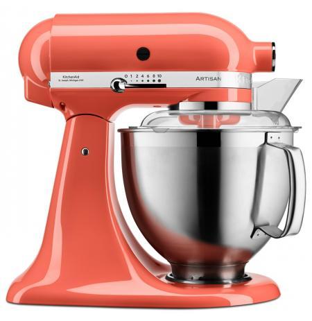 Robot kuchyňský Artisan KitchenAid 5KSM185 lososová 4,83 ltr.