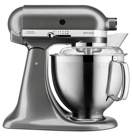 Robot kuchyňský Artisan KitchenAid 5KSM185 stříbřitě šedá 4,83 ltr.