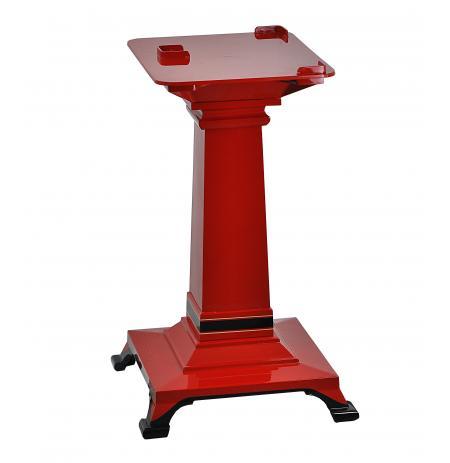 Podstavec čtvercový litinový pod nářezové stroje Retro Flywheel, červený