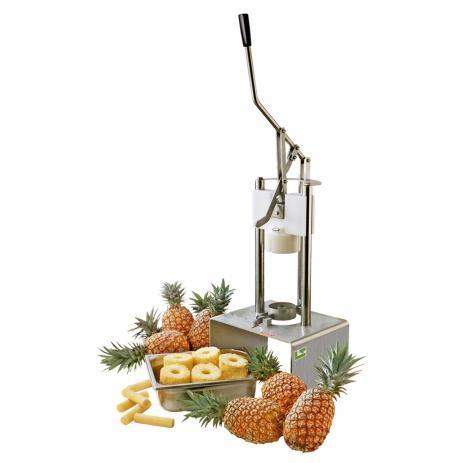 Loupač a kráječ ananasu profesionální 2v1 s podstavcem, kalibrace 102mm