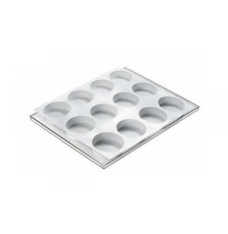 Forma CookieFlex DISCOTTO na výrobu kulatých zmrzlinových sendvičů, 12 ks s platem