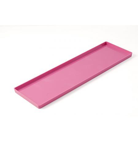Plato polykarbonátové prezentační 119x395 mm, barva fuchsie, sada 2ks