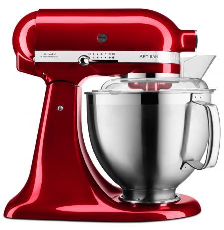 Robot kuchyňský Artisan KitchenAid 5KSM185 červená metalíza 4,83 ltr.