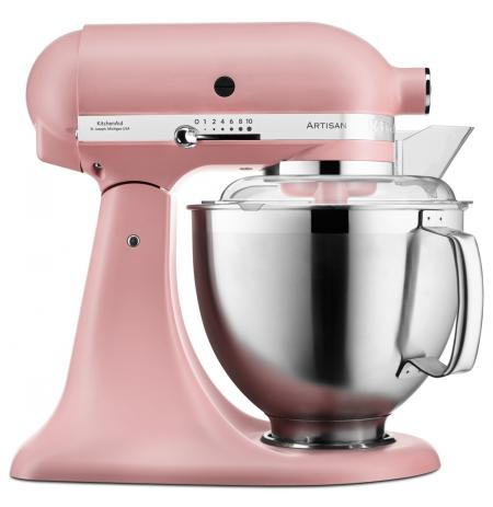 Robot kuchyňský Artisan KitchenAid 5KSM185 matná růžová 4,83 ltr.