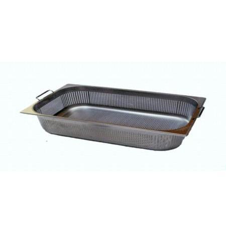 Gastronádoba nerezová profi děrovaná GN 2/1 s úchyty 650x530 mm, hloubka: 200 mm M-21200 PU