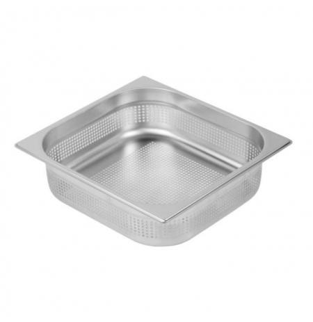 Gastronádoba nerezová profi děrovaná s úchyty GN 2/3 352 x 325 mm, hloubka: 150 mm M-23150 PU