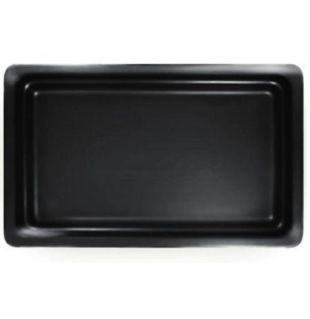 Gastronádoba porcelánová GN 1/1 černá mat, hloubka 22 mm