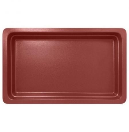 Gastronádoba porcelánová GN 1/1 červená mat, hloubka 22 mm