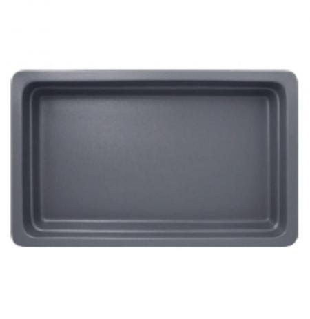Gastronádoba porcelánová GN 1/1 šedá mat, hloubka 65 mm
