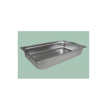 Gastronádoba nerezová plná GN 2/1 s úchyty 650 x 530 mm, hloubka: 100 mm