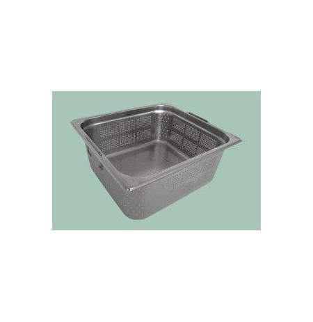 Gastronádoba nerezová děrovaná GN 2/3 s úchyty 352 x 325 mm, hloubka: 200 mm