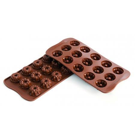 Forma na čokoládu silikonová EasyChoc 15x Bábovička Fantasia, 3 druhy