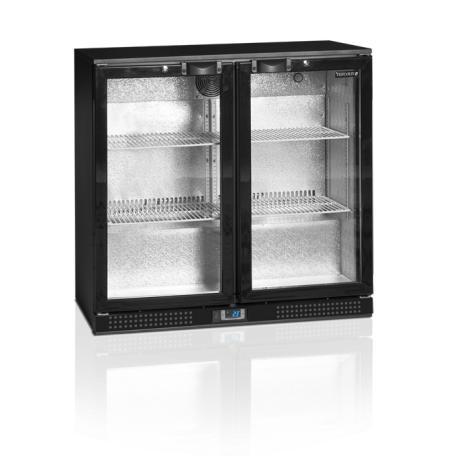 Minibar DB 200HI prosklené křídlové dveře, černá
