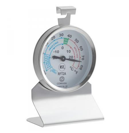 Nerezový teploměr do chladničky/mrazničky -40°C až +25°C