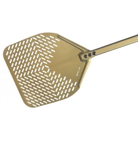 Lopata na pizzu GOLD sázecí perforovaná 36x36cm